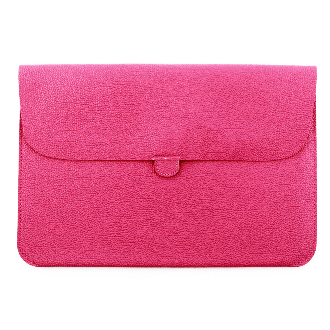 PC Notebook PU Leather Water Resistant Pouch Laptop Sleeve Magenta for MacBook 12 11.6 Inch
