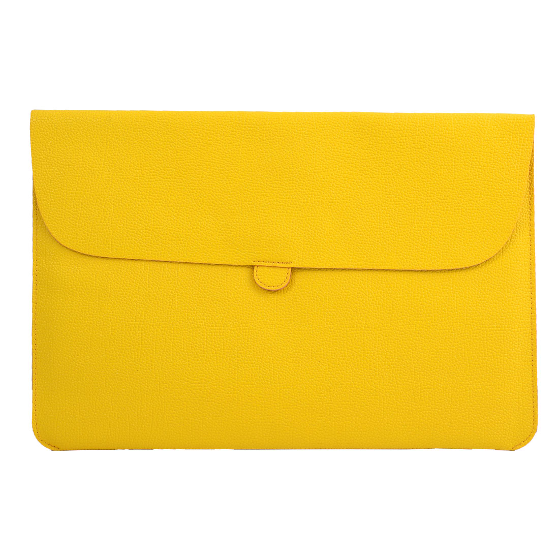 Carrying Laptop Case Pouch Envelope Shape Tablet Sleeve Bag Yellow for Macbook 13.3""