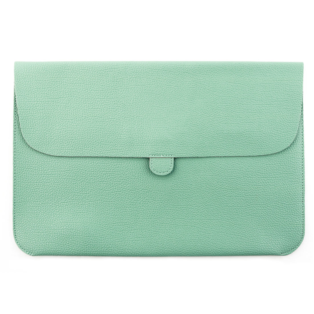 Office Notebook PU Leather Carry Bag Pouch Laptop Sleeve Turquoise Color for Macbook 15.4 Inch