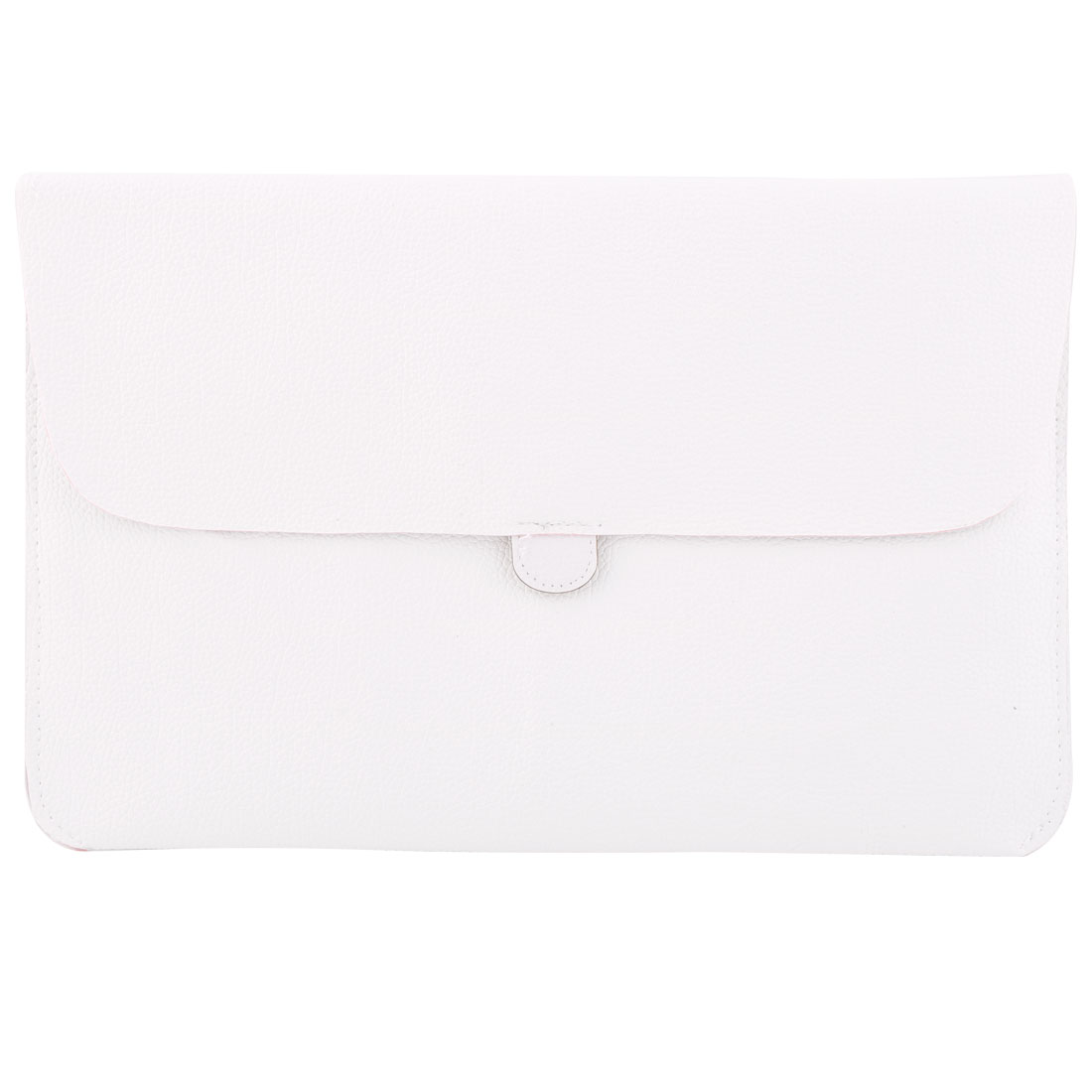 PC Computer PU Leather Sleeve Puoch Cover Shell White for Macbook Air 11 Inch