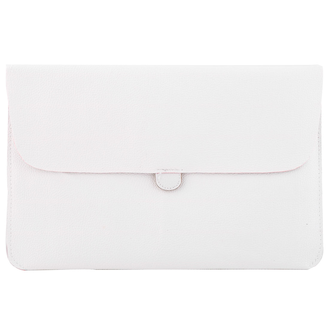 Computer PU Leather Scratch Protective Pouch Laptop Sleeve White for Macbook 15.4 Inch