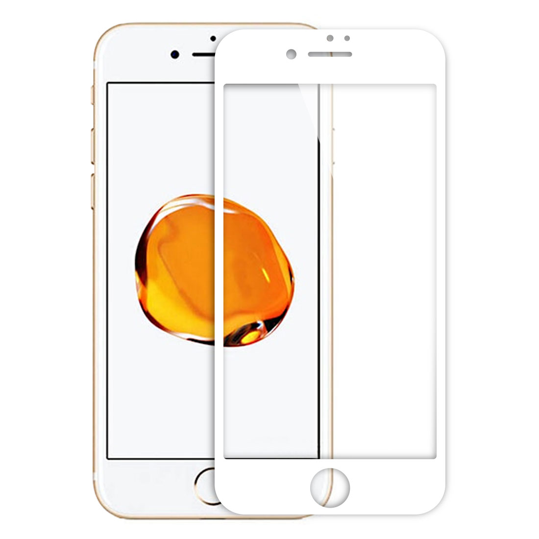Smart Phone Tempered Glass Anti-Scratch 9H 3D Coverage Screen Protector White for iPhone 7