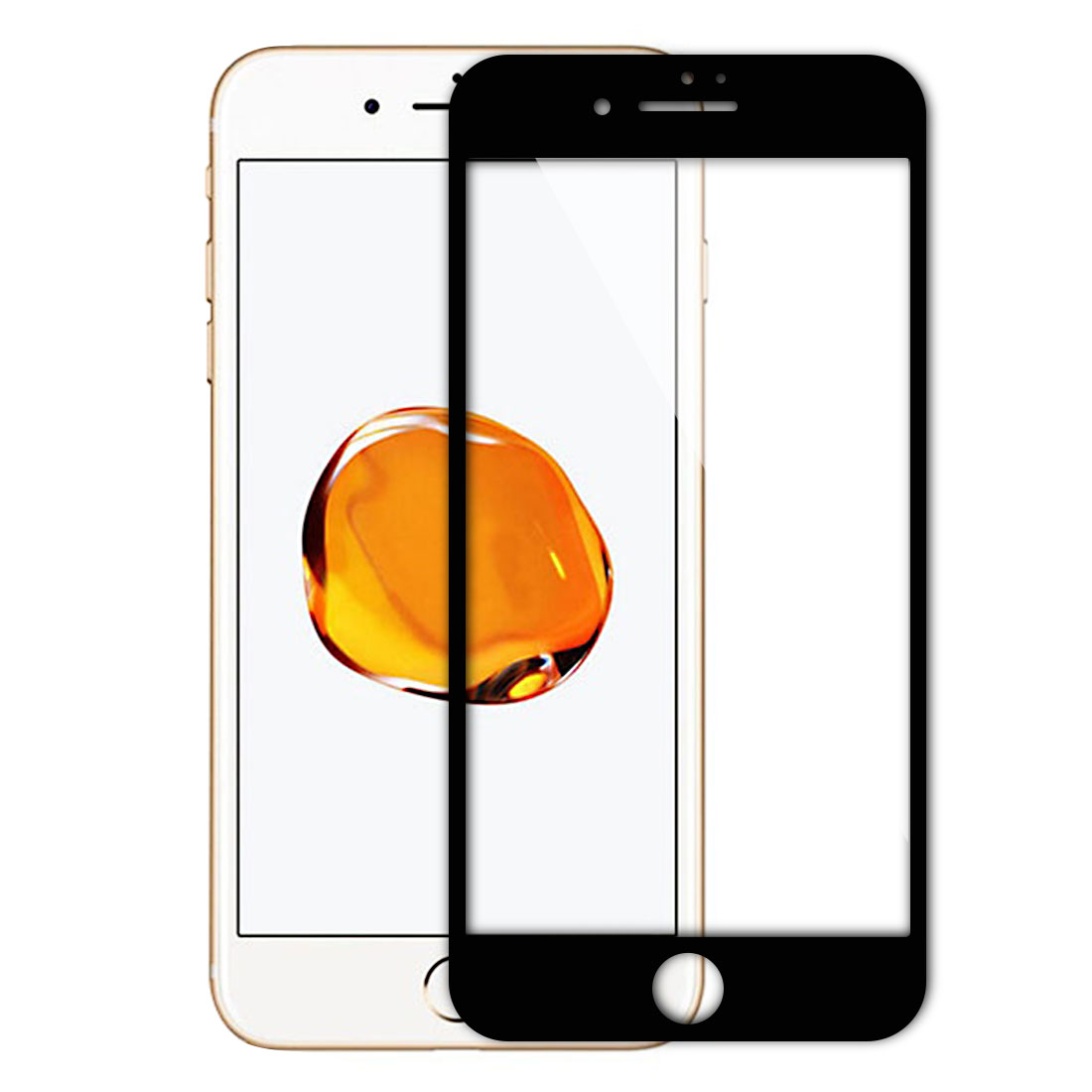 Phone Tempered Glass 9H Hardness 3D Round Screen Protector Black for iPhone 7 Plus