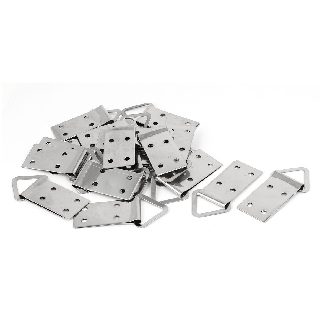 4 Hole Triangle D-Ring Picture Photo Frame Hanging Metal Strap Hanger 20PCS