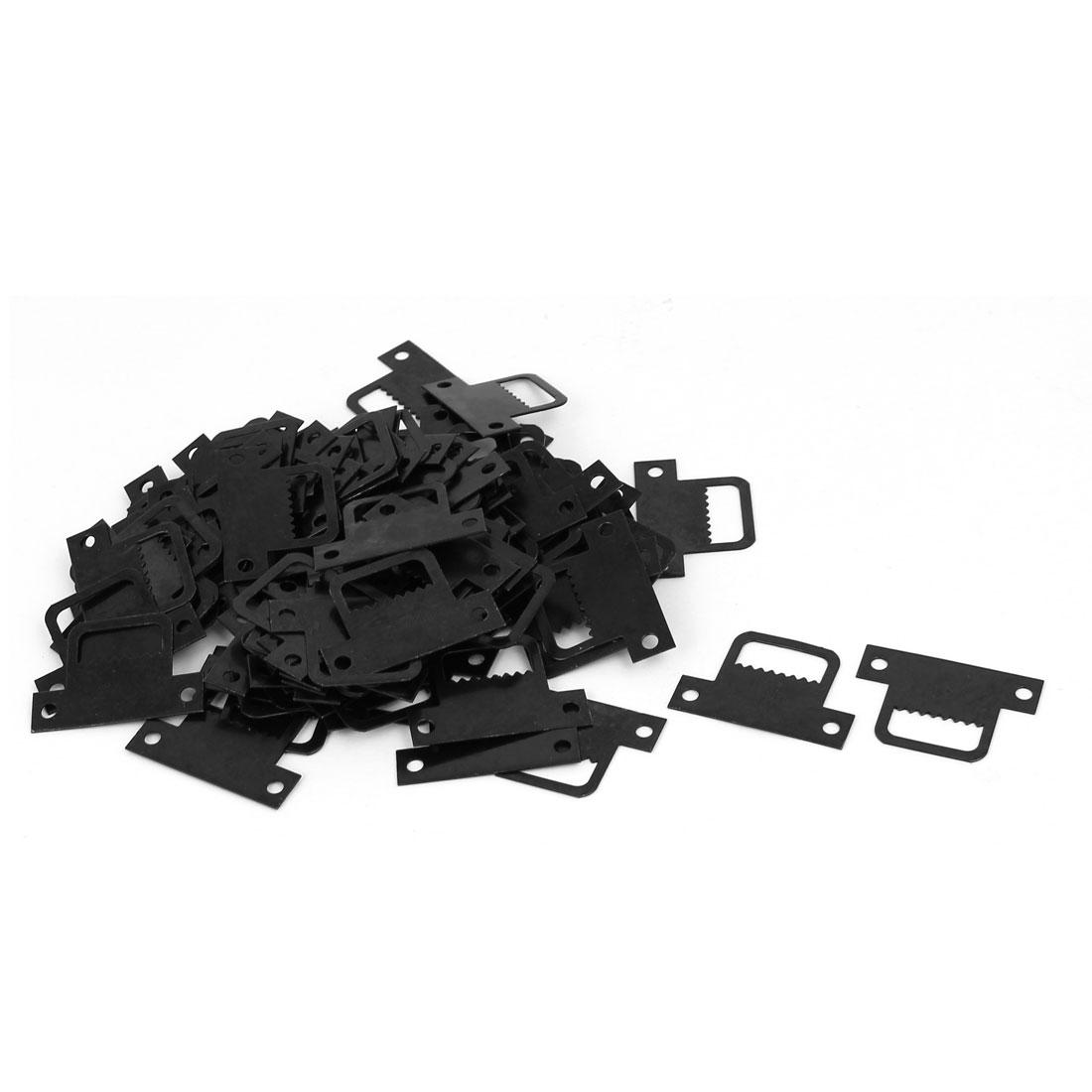 Cross Stitch Picture Frame T Shape Sawtooth Hanger Black 32mmx8mmx22mm 100pcs