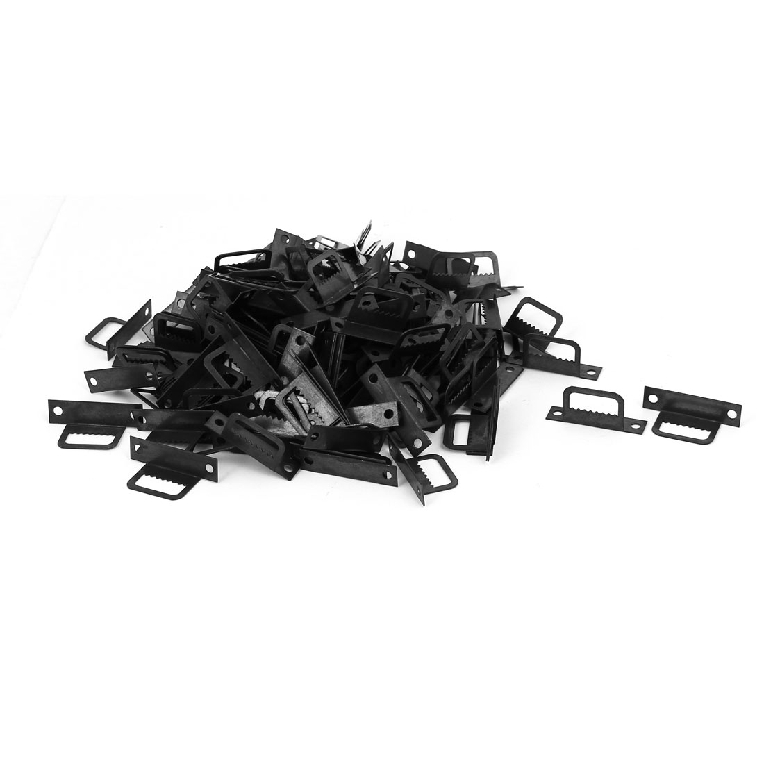 Cross Stitch Picture Frame L Shape Sawtooth Hanger Black 32mmx8mmx15mm 200pcs