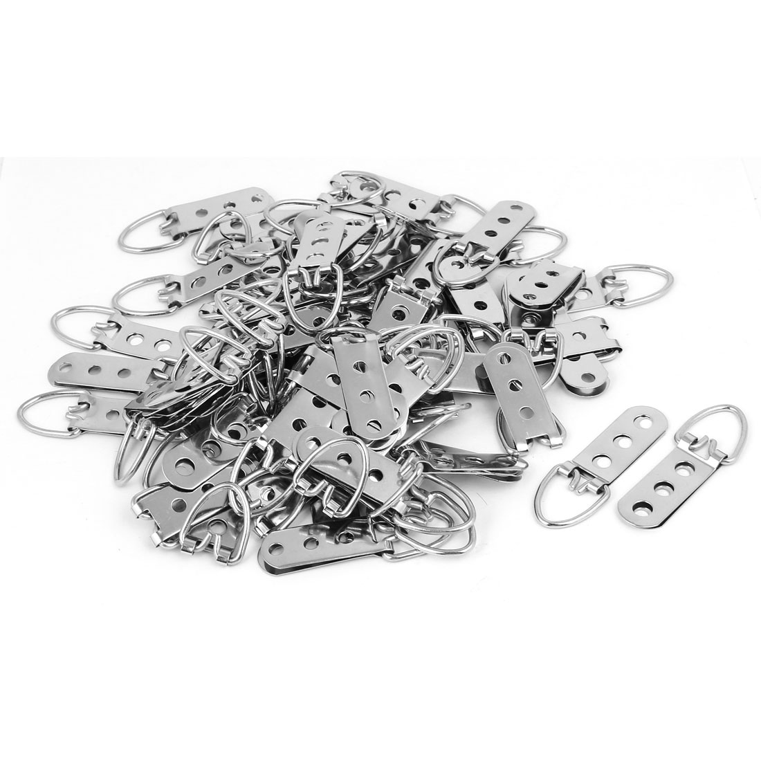 65mmx22mm Iron Three Holes D-Ring Picture Frame Strap Hanging Hanger 100pcs