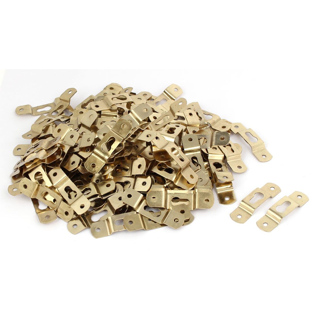 60mmx15mmx5mm Wall Hanging Picture Photo Frame Hidden Hook Gold Tone 200pcs