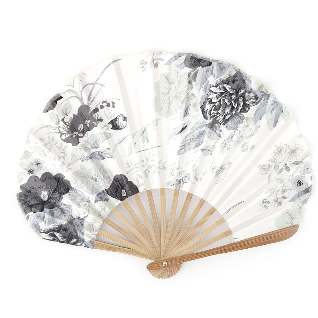 Dancing Party Bamboo Frame Peony Pattern Ornament Handheld Folding Hand Fan
