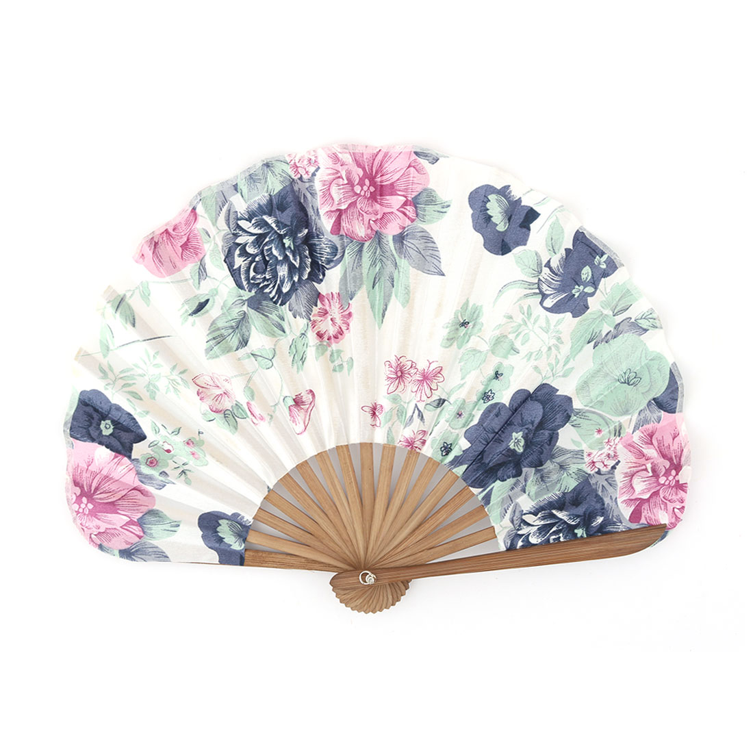 Dance Party Bamboo Frame Peony Printed Ornament Handheld Foldable Hand Fan