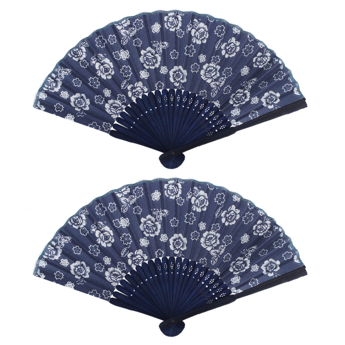 Party Dancing Peony Pattern Exquisite Vintage Decorations Folding Fan 2 PCS