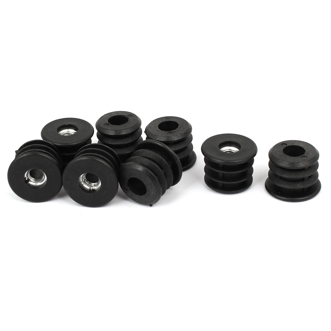 27mm Outer Dia Round Threaded Tubing Tube Insert Blanking End Cap 8PCS