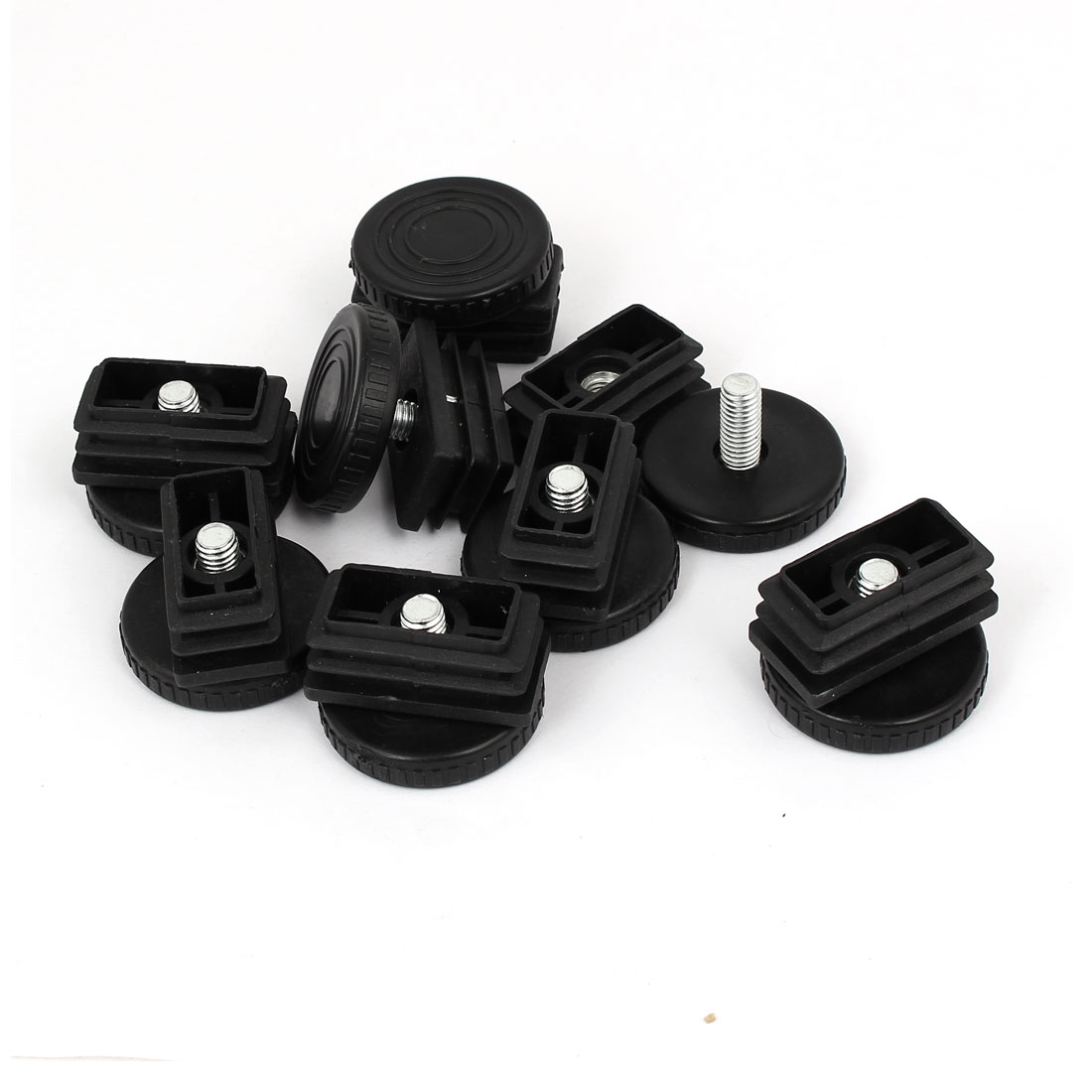 39mm x 19mm Thread Tube Insert Adjustable Leveling Foot 8 Sets for Desk Table