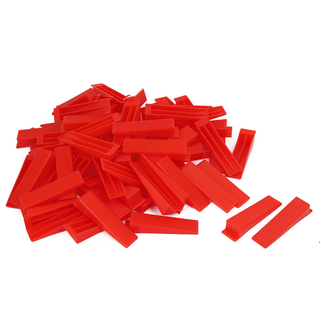 Wall Floor Tile Flat Leveling System Balance Wedges Red 90mmx22mmx16.5mm 100pcs