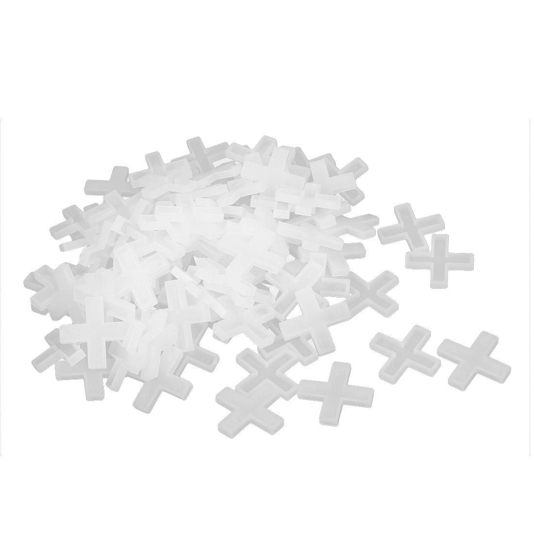 Wall Floor Tile Plastic Cross Spacer 6mm White 100pcs