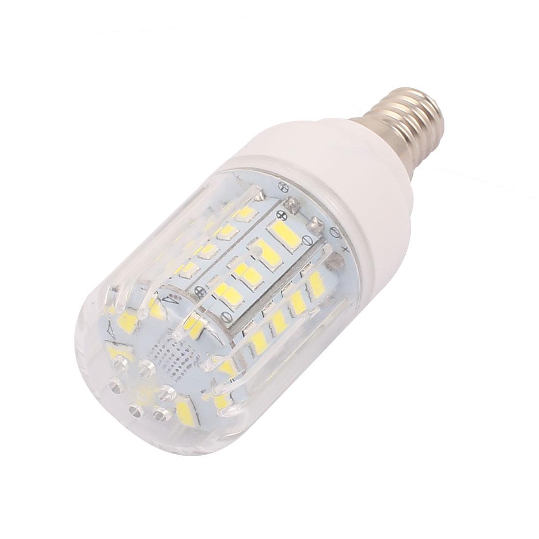 AC 220V E14 3W Pure White 40 LEDs 5733 SMD Energy Saving Silicone Corn Light Bulb