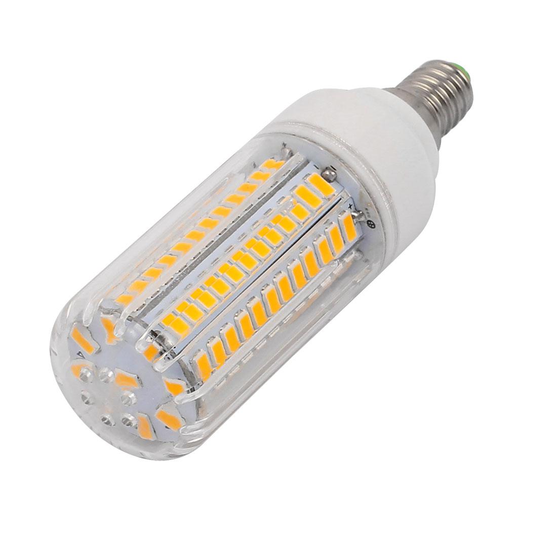 AC 220V E14 9W Warm White 105 LEDs 5736 SMD Energy Saving Silicone Corn Light Bulb