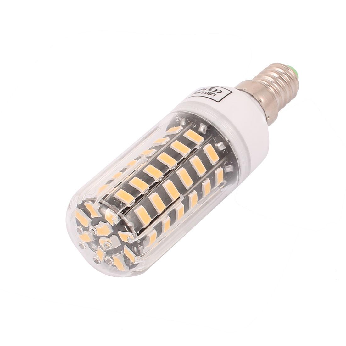 AC 220V New Super Bright E14 7W 64 LEDs 5733 SMD Energy Saving Corn Bulb Lamp Warm White