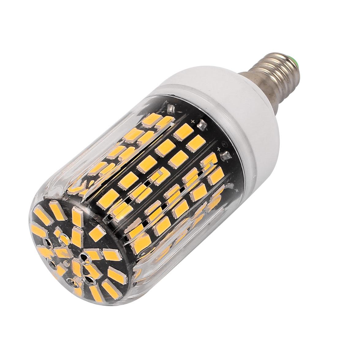 AC 220V Super Bright E14 12W 108 x 5733SMD Energy Saving Corn Bulb Lamp Warm White