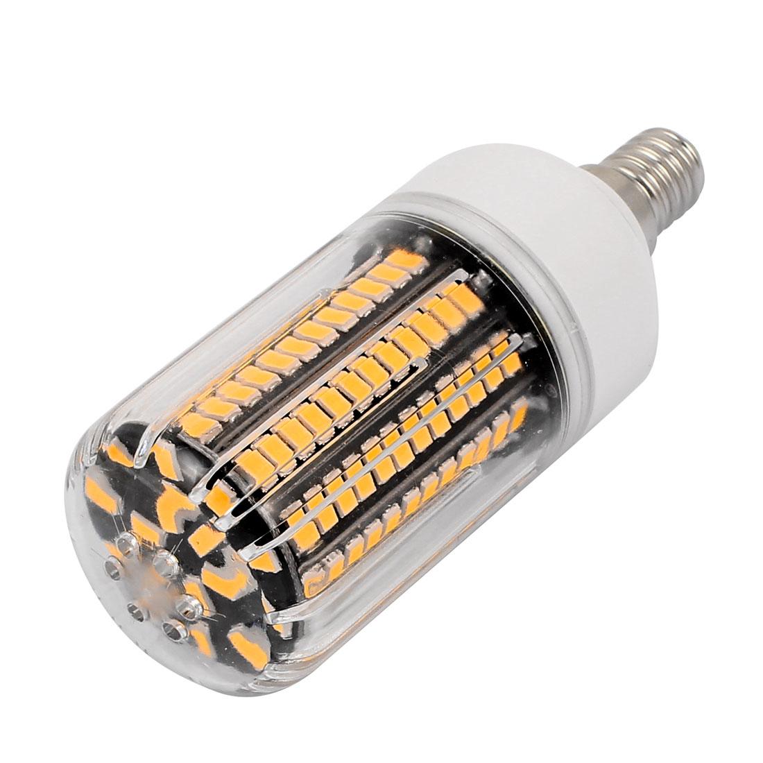 AC 220V Super Bright E14 15W 136 x 5733SMD Energy Saving Corn Bulb Lamp Warm White