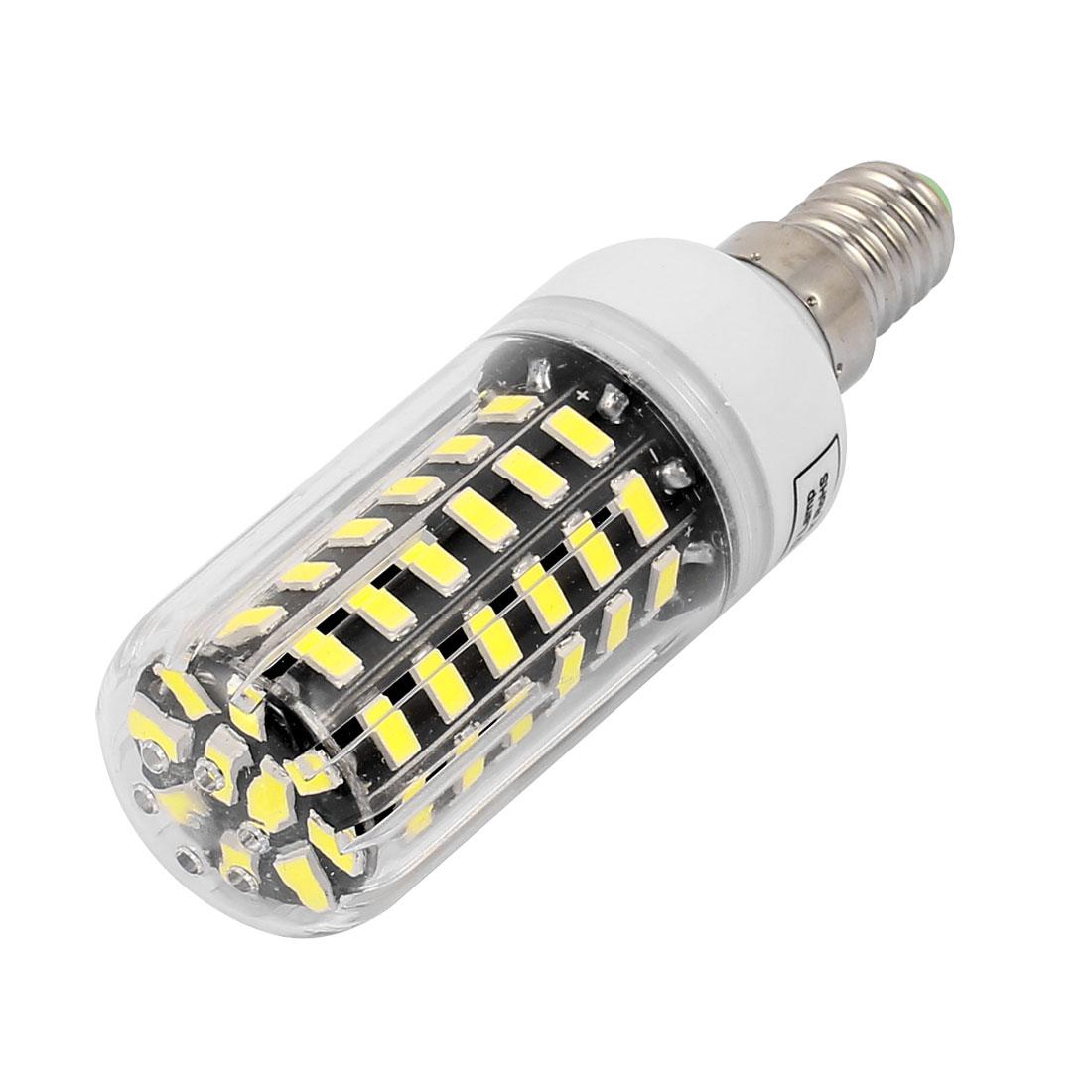 AC220V 7W 64 x 5733SMD E14 LED Corn Bulb Light Lamp Energy Saving Pure White