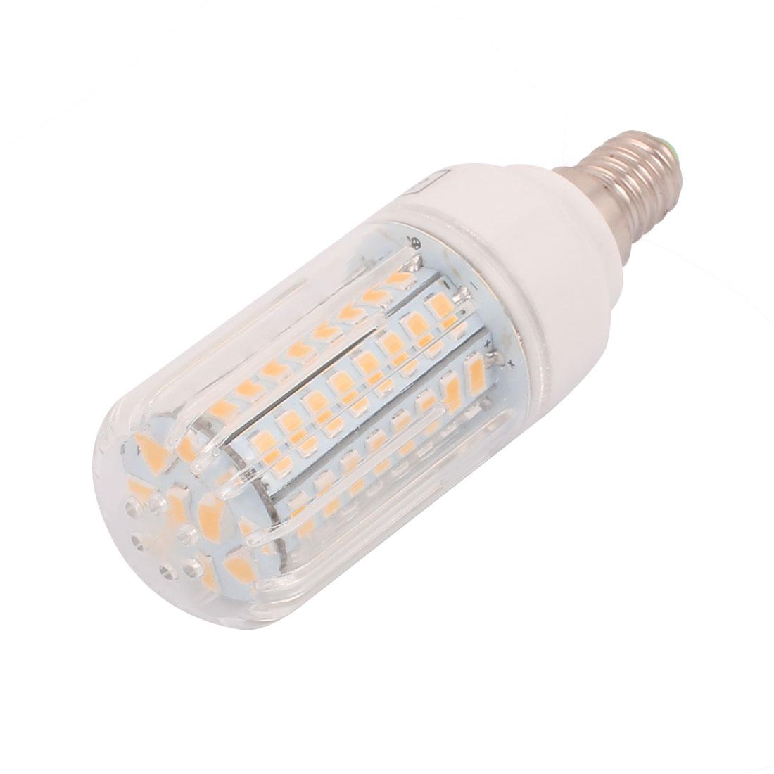 AC110V 7W 72 x 5736SMD E14 LED Corn Bulb Light Lamp Energy Saving Warm White