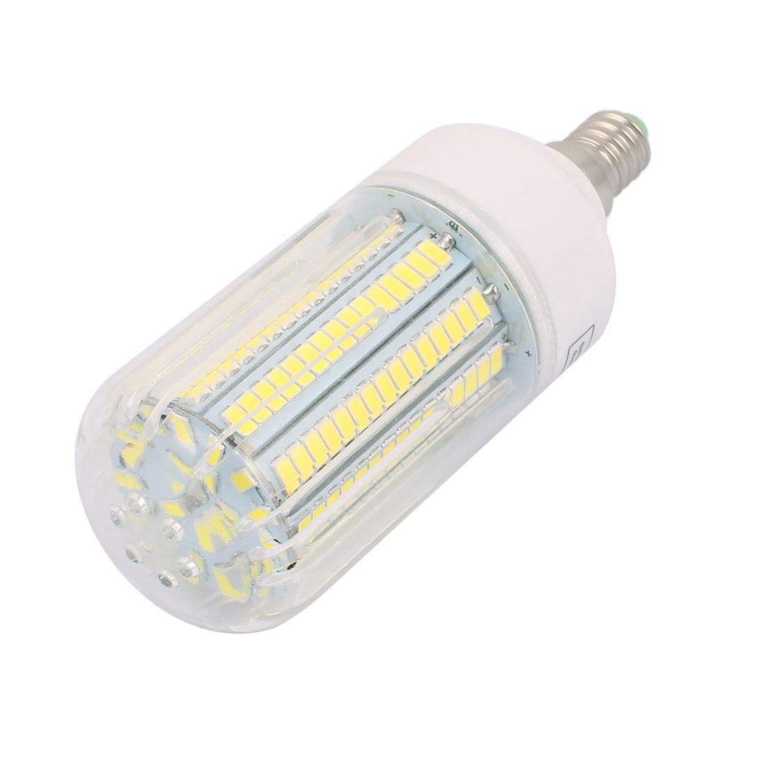 AC110V 15W 165 x 5736SMD E14 LED Corn Bulb Light Lamp Energy Saving Pure White