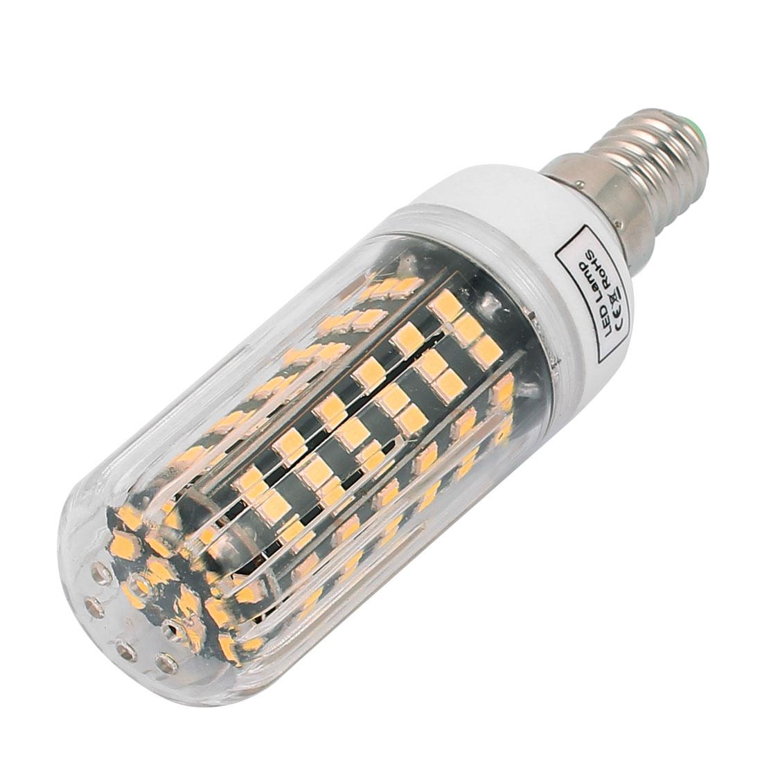 AC220V 9W 123 x 2835SMD E14 LED Corn Bulb Light Lamp Energy Saving Warm White