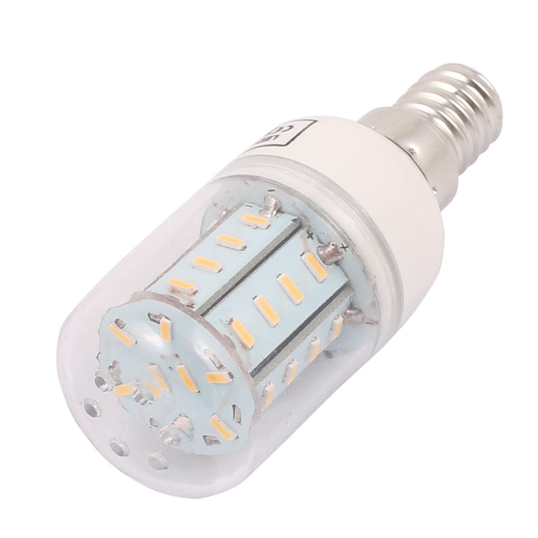 AC220V 5W 37 x 4014 LED E14 Corn Bulb Light Lamp Energy Saving Warm White