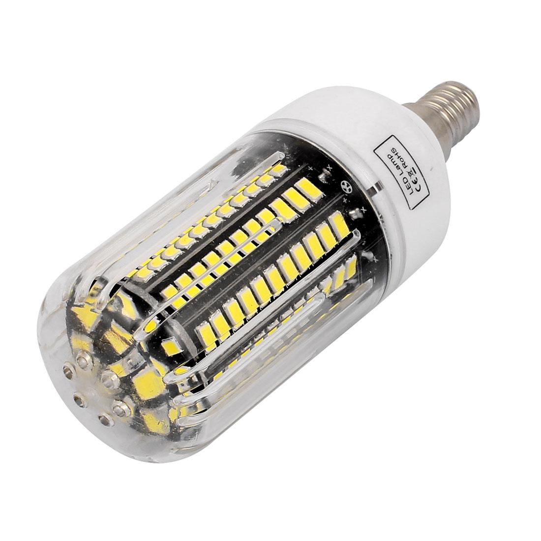 85V~265V 15W 130 x 5736SMD E14 LED Corn Bulb Light Lamp Energy Saving Pure White