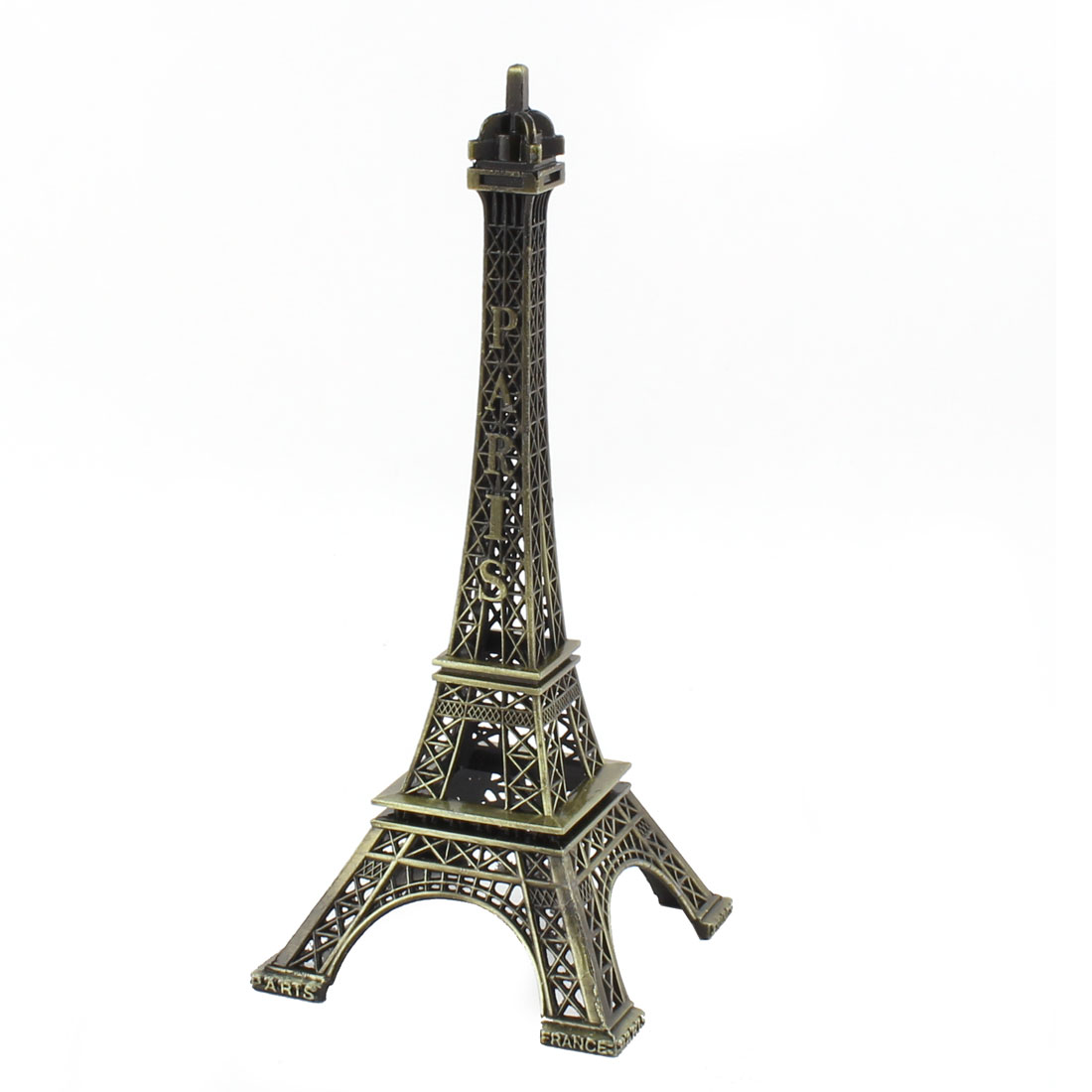 Home Metal Collection Souvenir Paris Mini Eiffel Tower Model Pattern Ornament Bronze Tone