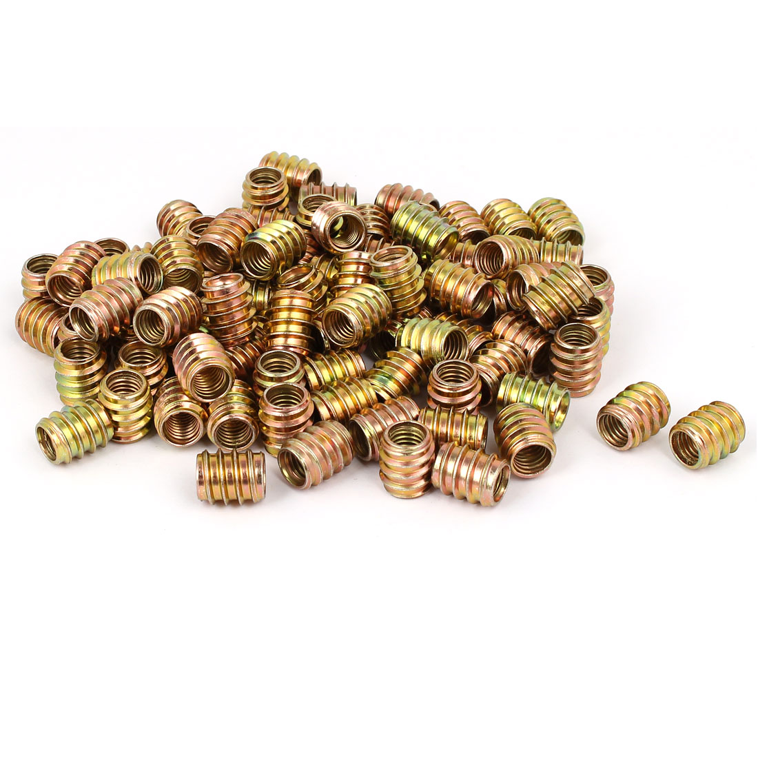 Wood Furniture Insert Screw E-Nut Bronze Tone M8 x 15mm 100pcs