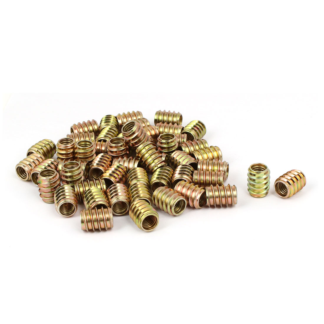 Wood Furniture Insert Screw E-Nut Bronze Tone M8 x 17mm 50pcs