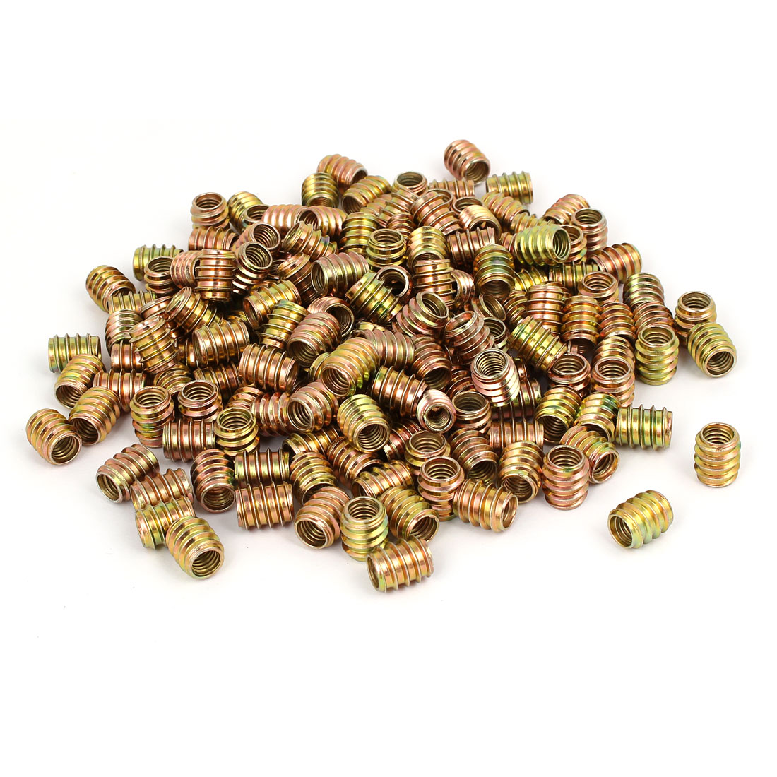 Wood Furniture Insert Screw E-Nut Bronze Tone M8 x 15mm 250pcs
