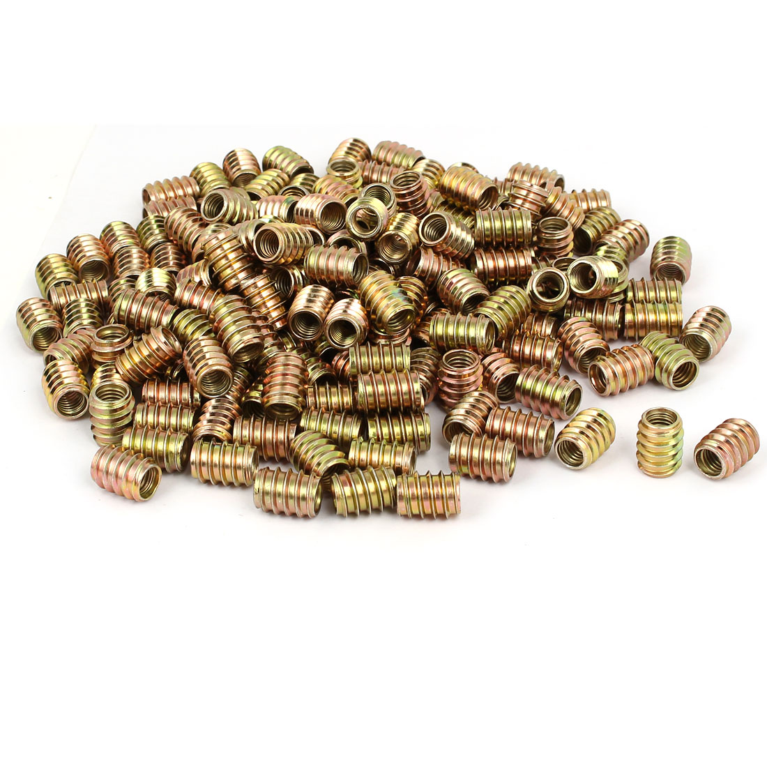 Wood Furniture Insert Screw E-Nut Bronze Tone M8 x 17mm 300pcs