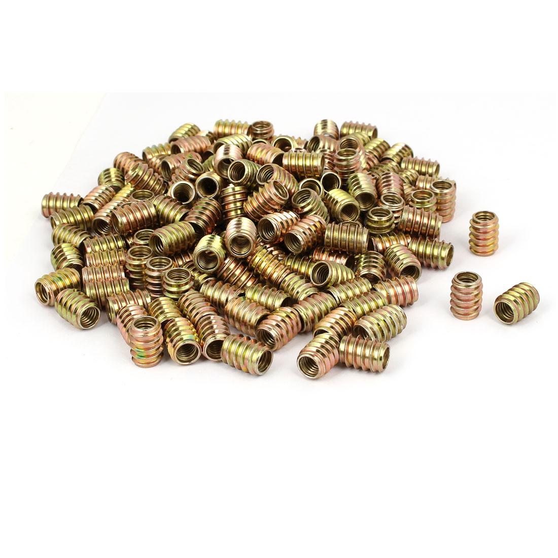 Wood Furniture Insert Screw E-Nut Bronze Tone M8 x 17mm 250pcs