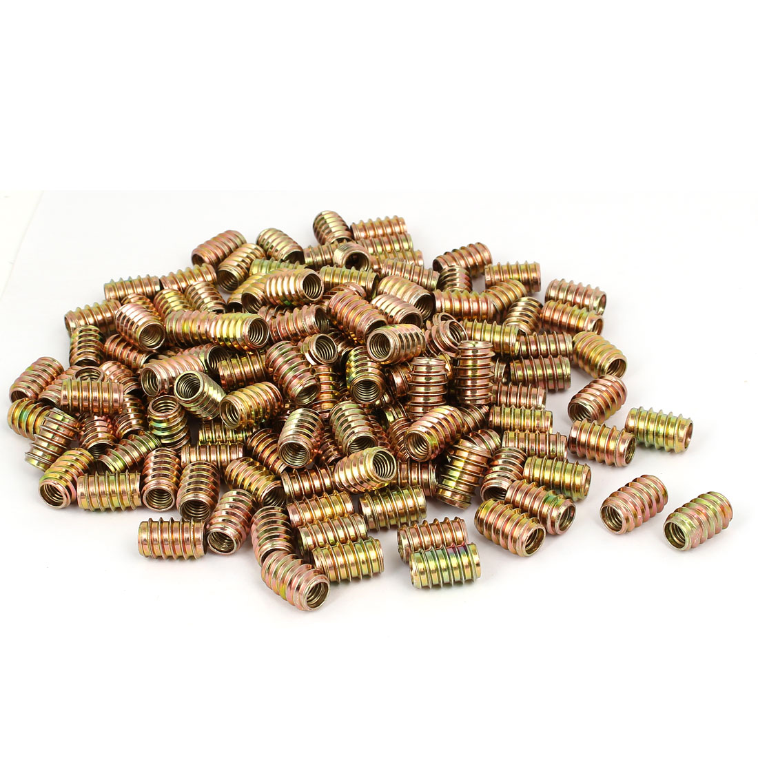 Wood Furniture Insert Fixing Screw E-Nut Bronze Tone M8 x 20mm 250pcs