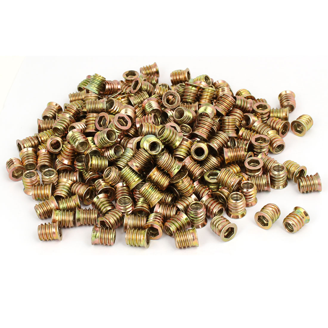 Wood Furniture Fixing Insert Interface Hex Socket E-Nut 8mmx15mm 300pcs