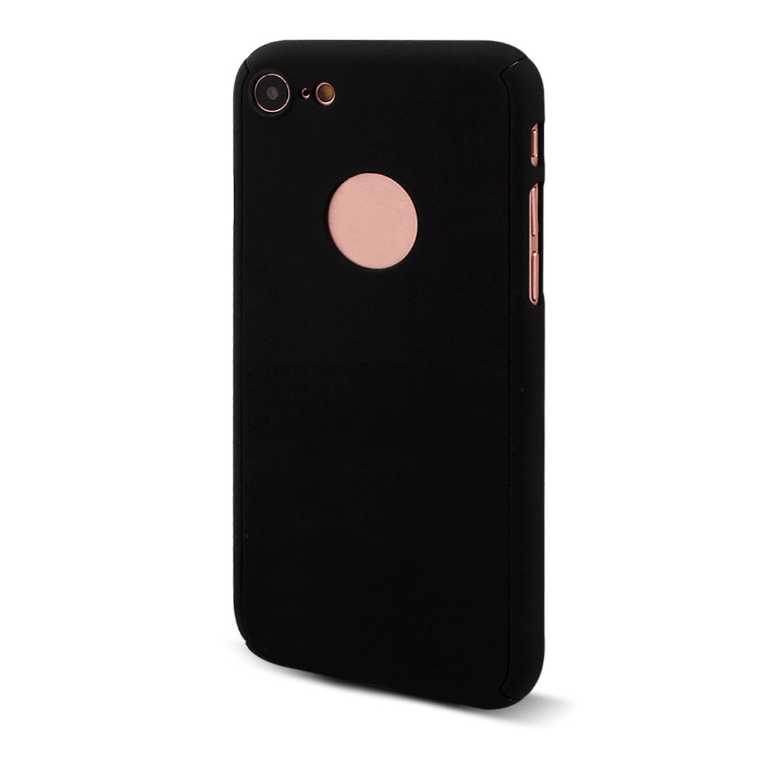 Polycarbonate 360 Degree Hard Protective Phone Case Skin Black for iPhone 7