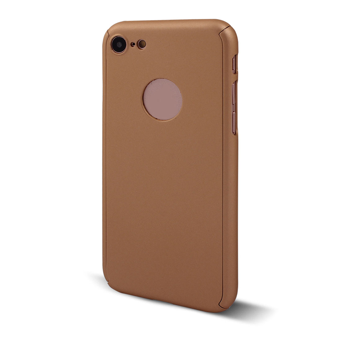 Polycarbonate 360 Degree Full Body Phone Case Gold Tone for iPhone 7