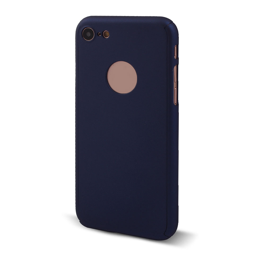 Polycarbonate 360 Degree Full Body Skin Phone Case Navy Blue for iPhone 7
