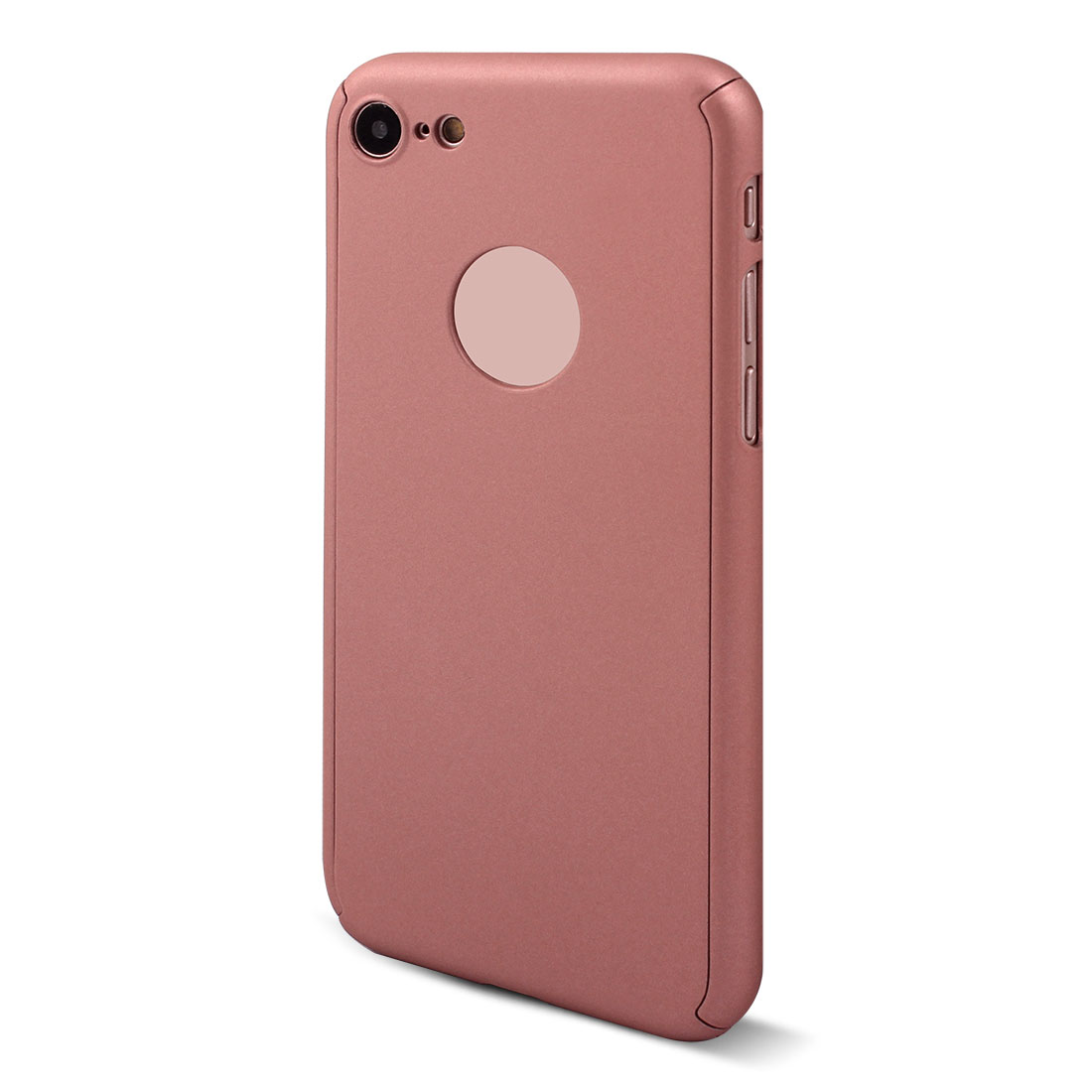 Polycarbonate 360 Degree Full Body Phone Case Rose Gold Tone for iPhone 7