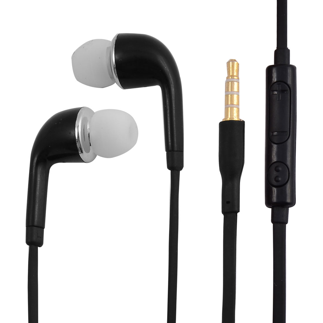 3.5mm Stereo In-Ear Earphones Headphones Headsets Black for Cellphone