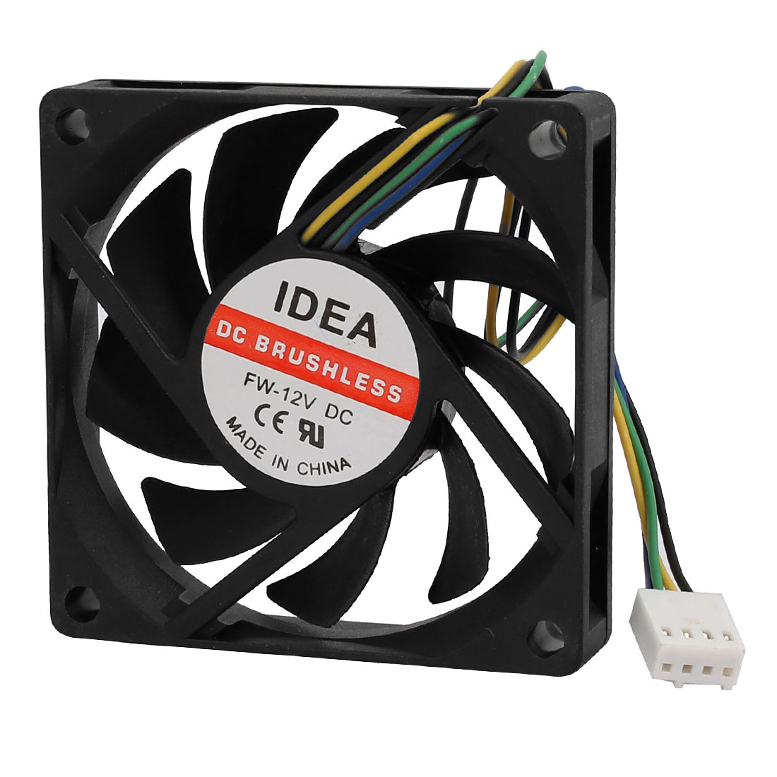 70mmx70mmx15mm Square Black Plastic DC 12V Heatsink Cooling Fan for PC Case