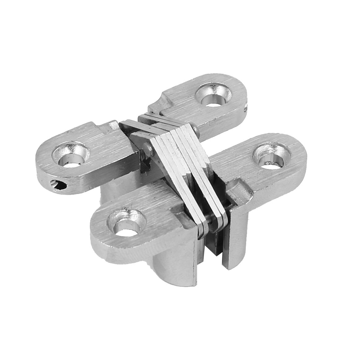 Cabinet Cupboard Sliding Door Folding Cross Hidden Hinge Silver Tone 45mm Length