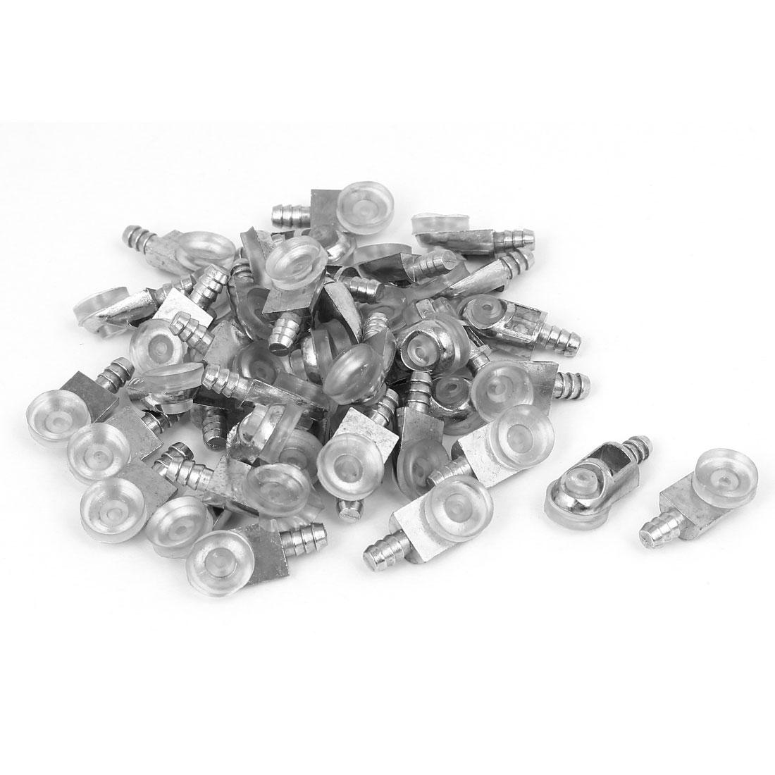 5mm Pin Dia 13mm Diameter Suction Cup Metal Shelf Support Holder Bracket 40pcs