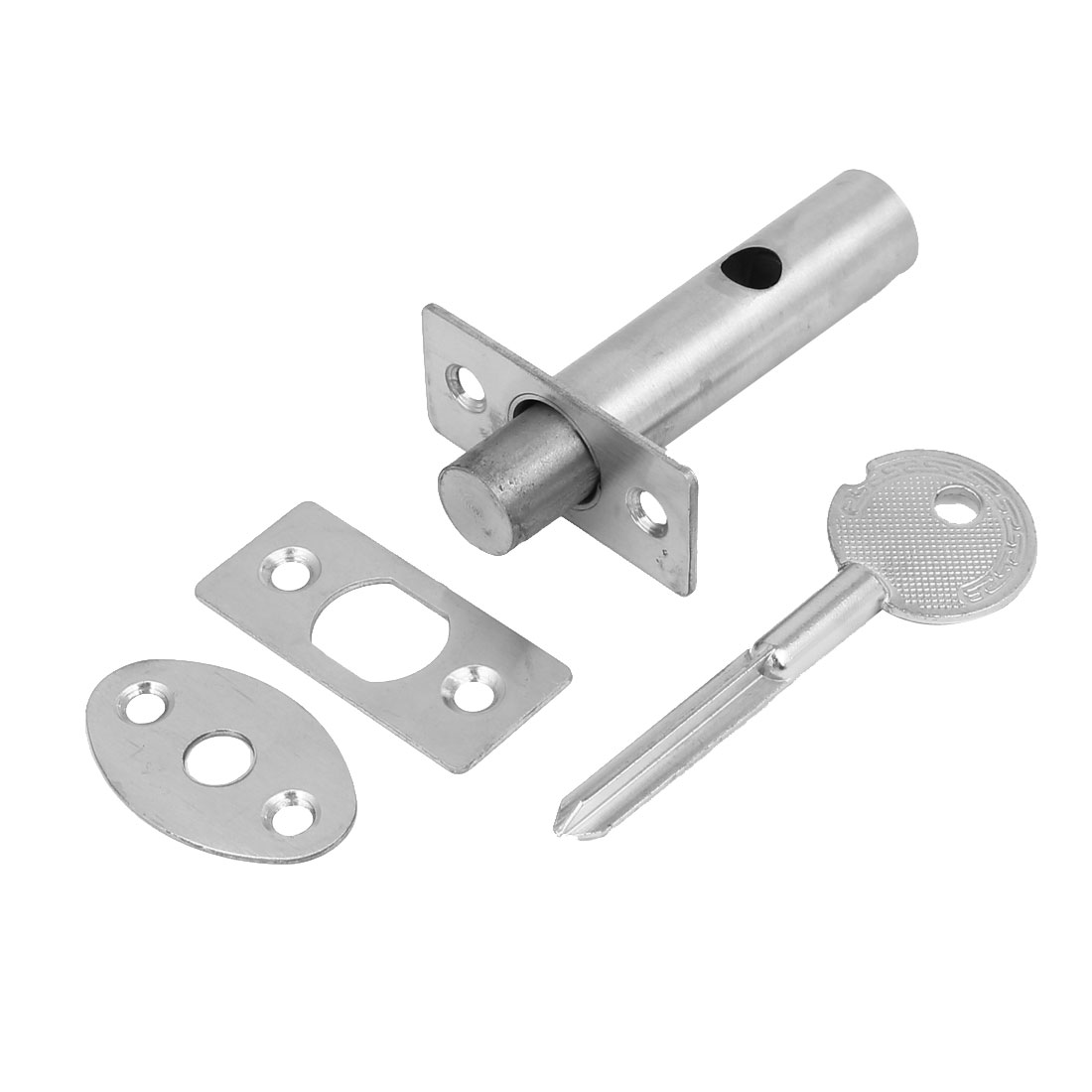 Home Office Metal Hidden Manager Tubewell Mortise Lock Silver Tone w Key