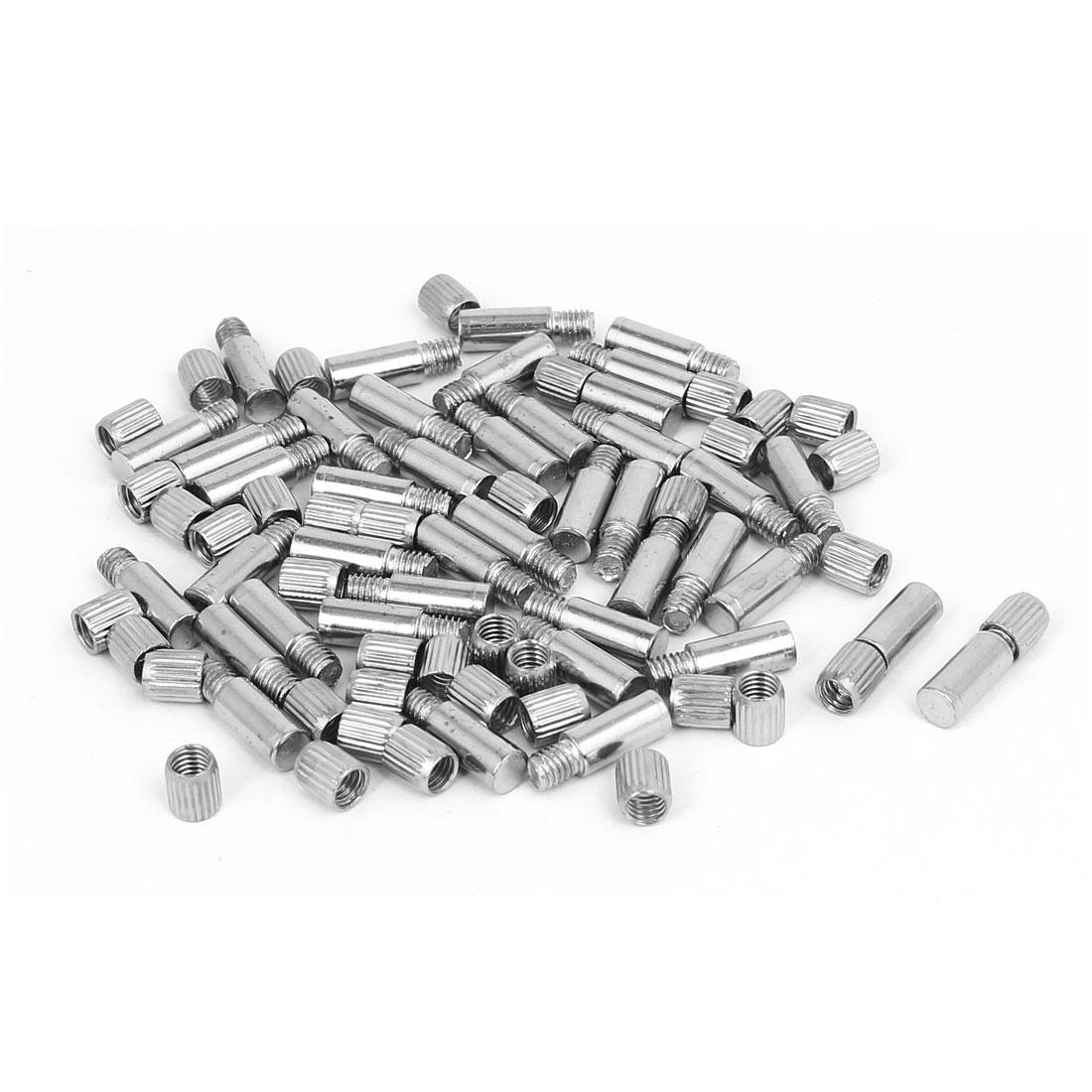 6mm Diameter Metal Shelf Support Pin Supporter Holder Bracket Silver Tone 40pcs