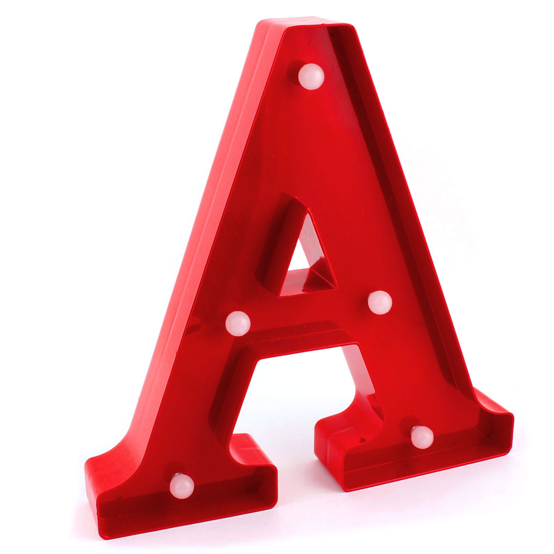 Pub Plastic Decoration English A Letter Alphabet Word Free DIY Hanging LED Light Red