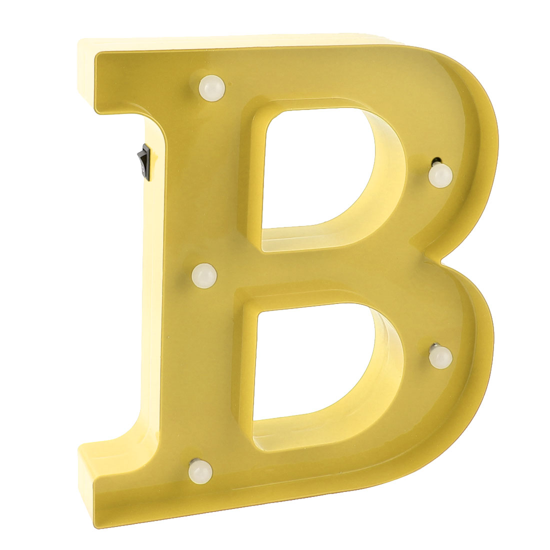 Party Plastic Decor English B Letter Alphabet Word Free DIY Hanging LED Light Gold Tone
